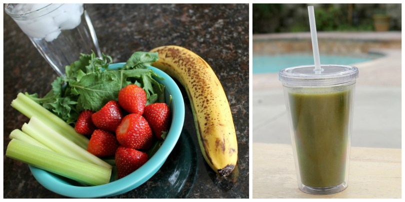 Strawberry Banana Green Smoothie