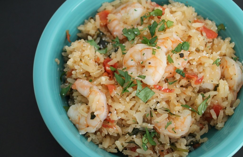 Mexican Rice with Shrimp