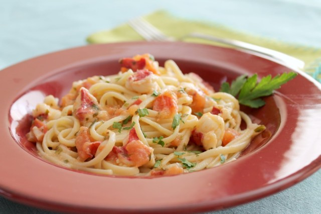 Tomato and Butter Lobster Linguini