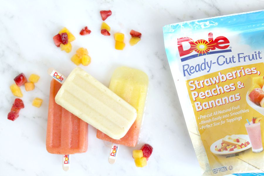 Paletas with Dole Frozen Fruit
