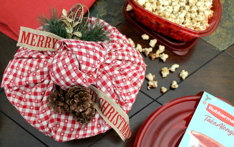 Candied pecans with popcorn 3.2