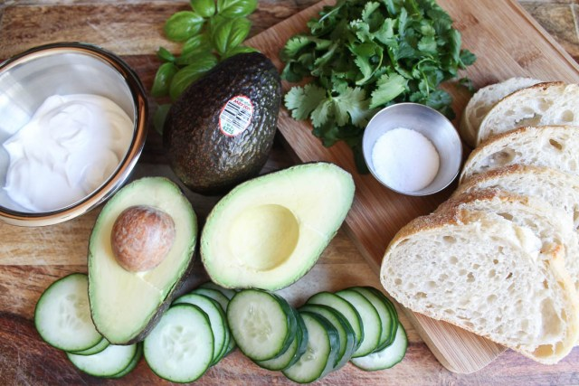 Avocado and Cucumber Open-Face Sandwich