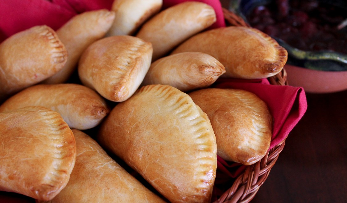 Ham and Veggie Empanadas with Cranberry Sauce
