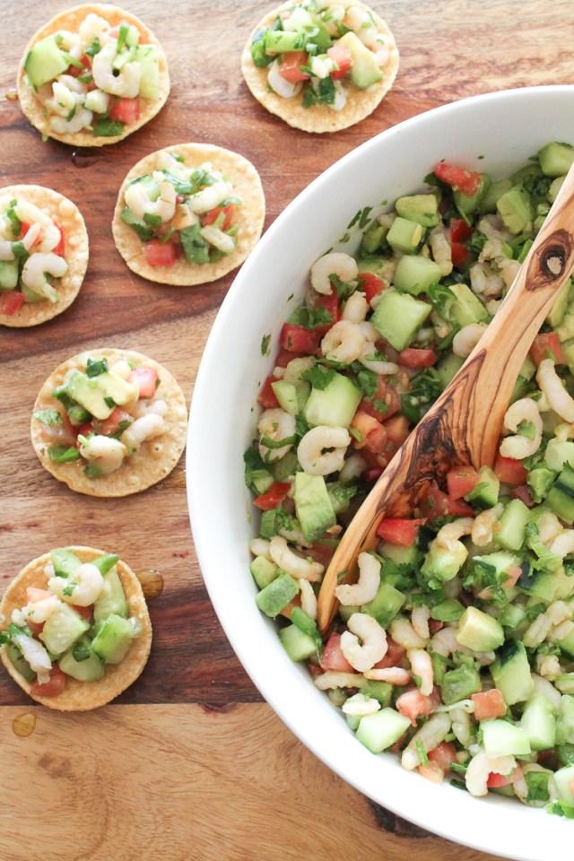 Quick Shrimp Tostada Appetizer