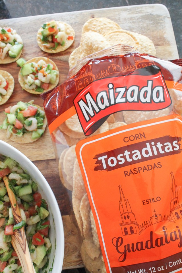 Quick Shrimp Tostada Appetizer