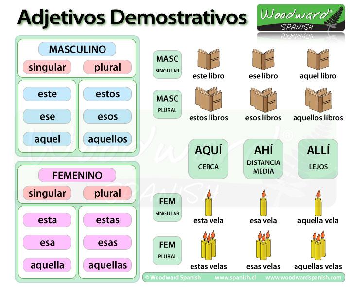Los Adjetivos Demostrativos en español