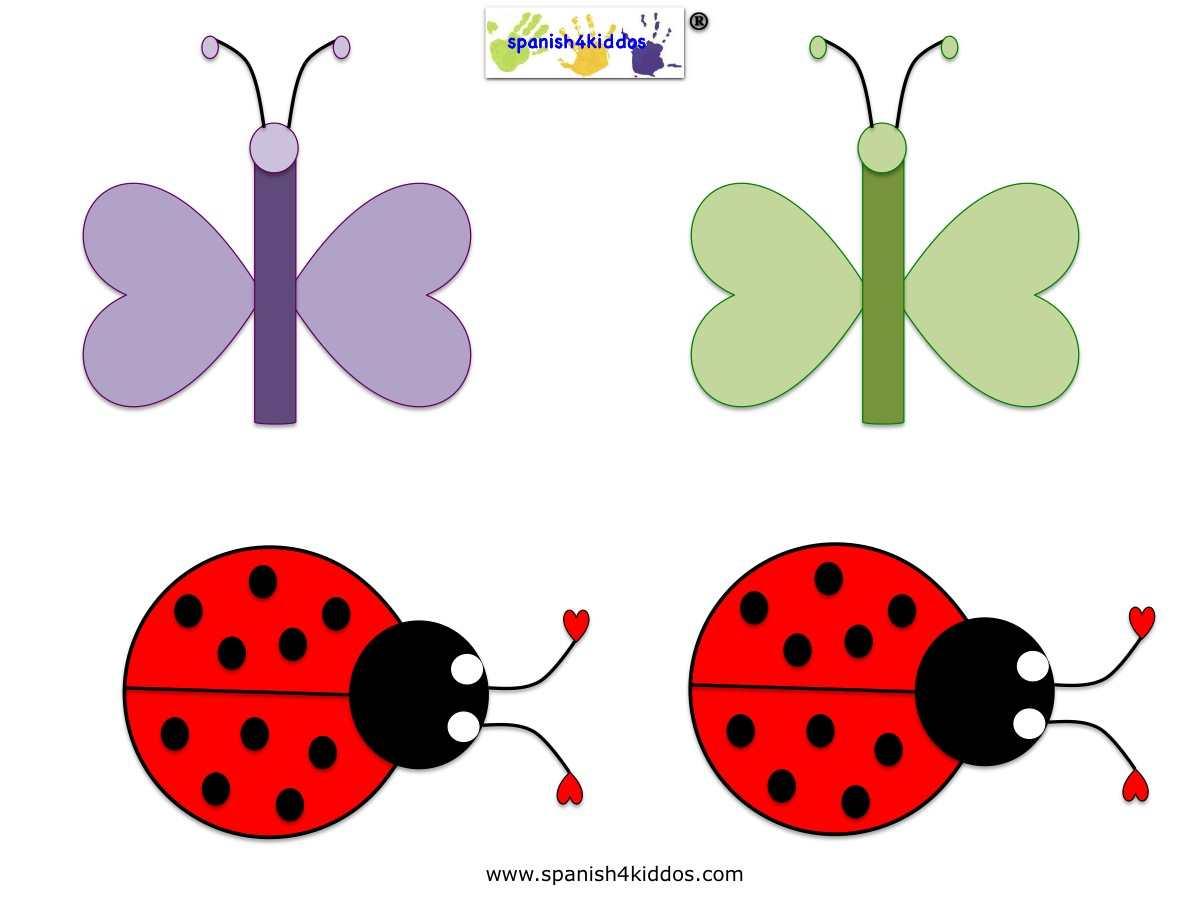 Butterfly Ladybug Patterns Spanish4kiddos Educational