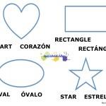 Bilingual shape names and figures