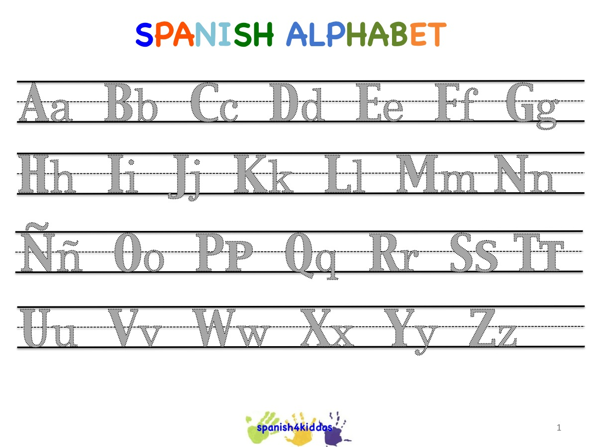 Spanish alphabet writing lesson - copyright