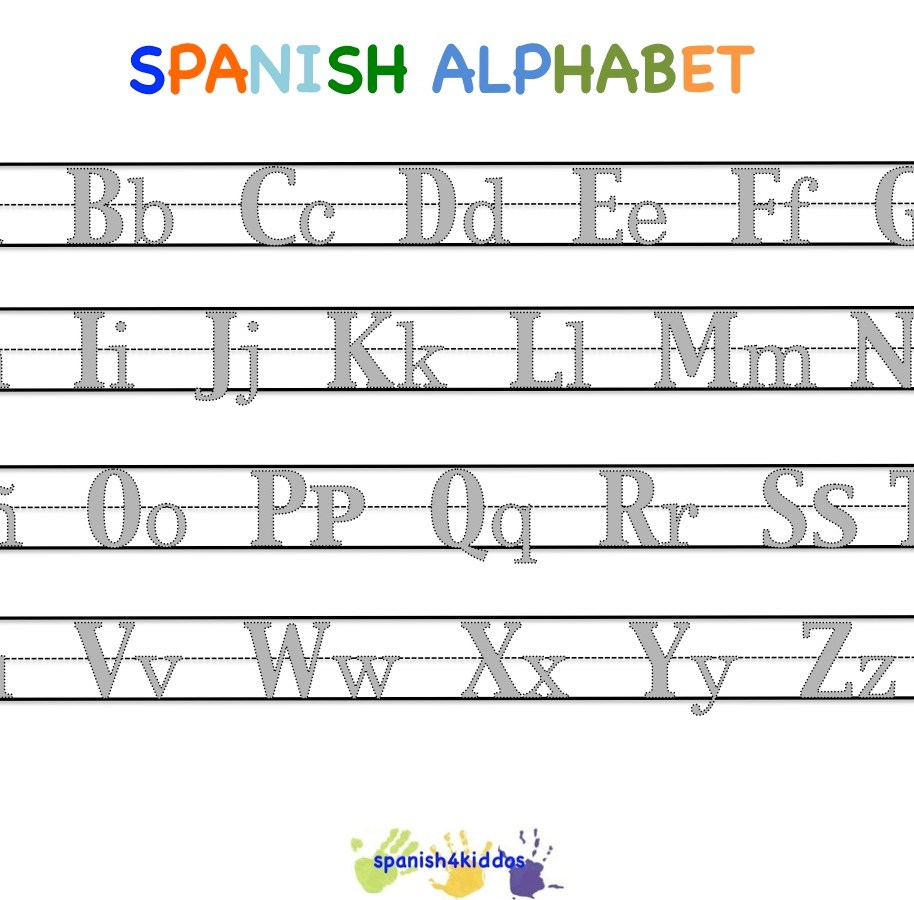 Worksheets Spanish Alphabet Worksheets welcome spanish4kiddos educational resources writing the spanish alphabet