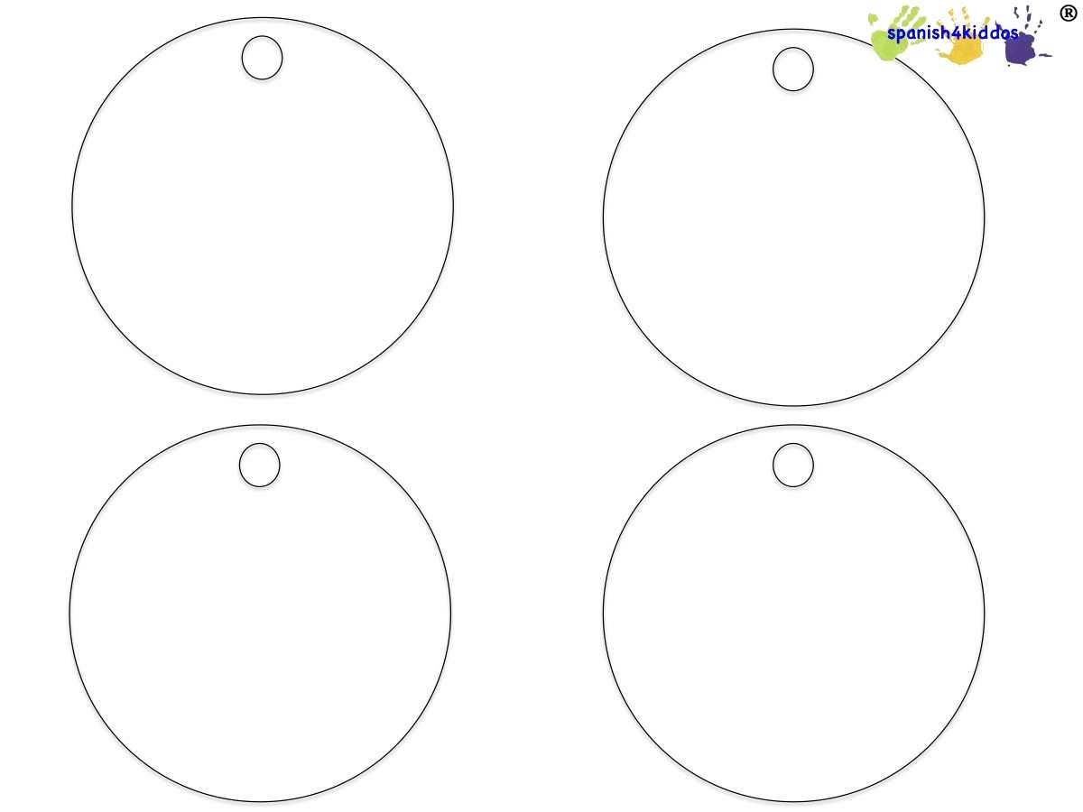 Blank Circles Spanish4kiddos Educational Resources