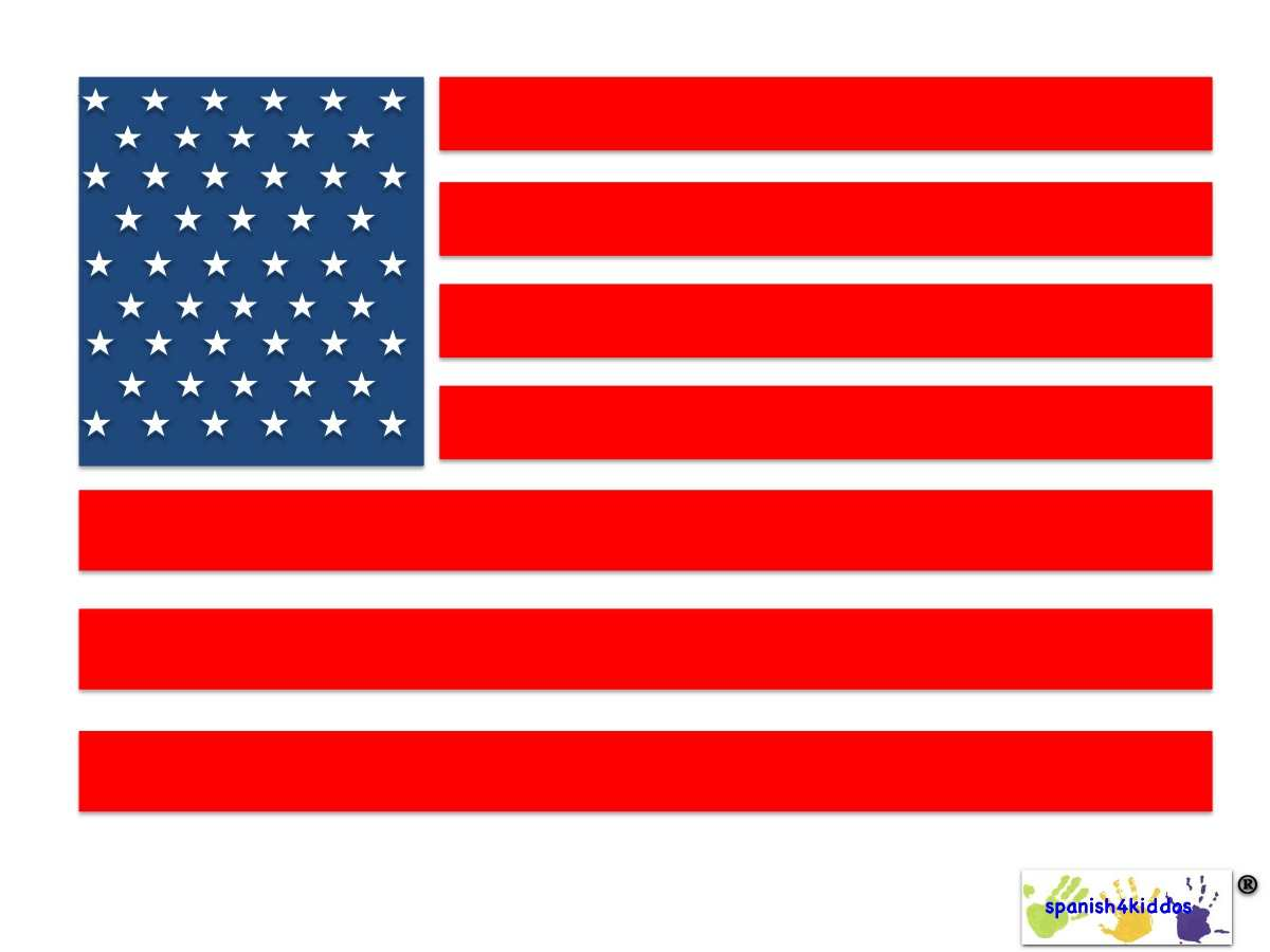 American Flag Spanish4kiddos Educational Resources