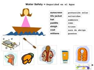 water safety learning activity