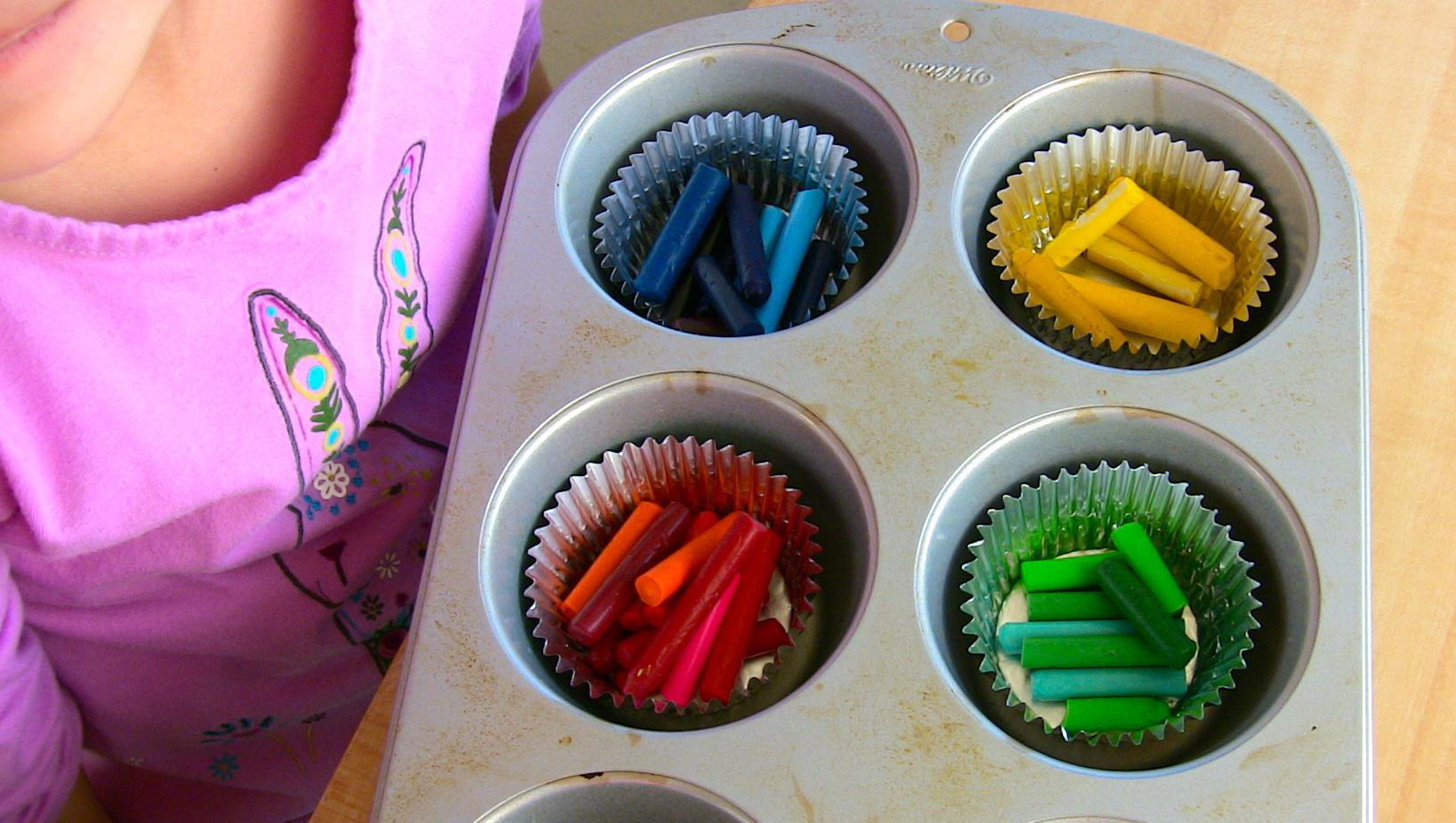Fun Outdoor Project Using Recycled Crayons To Identify