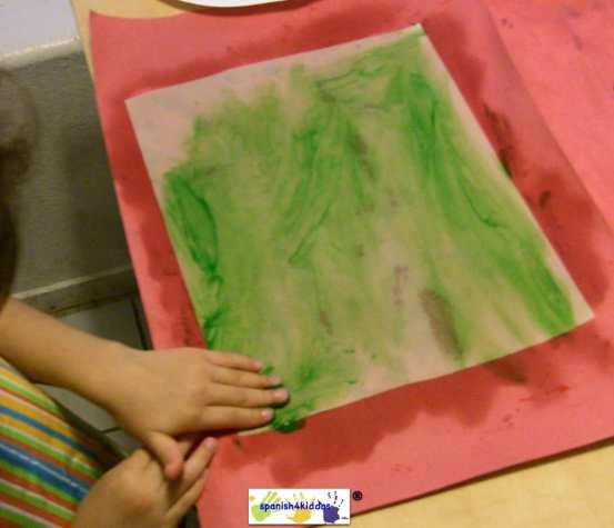 using finger paints