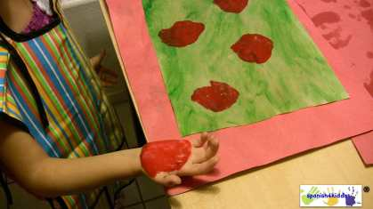 Finger-paint with red