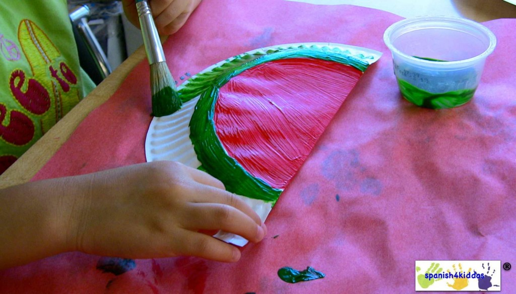 painting watermelon cardholder