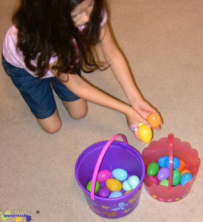 Easter egg learning activity