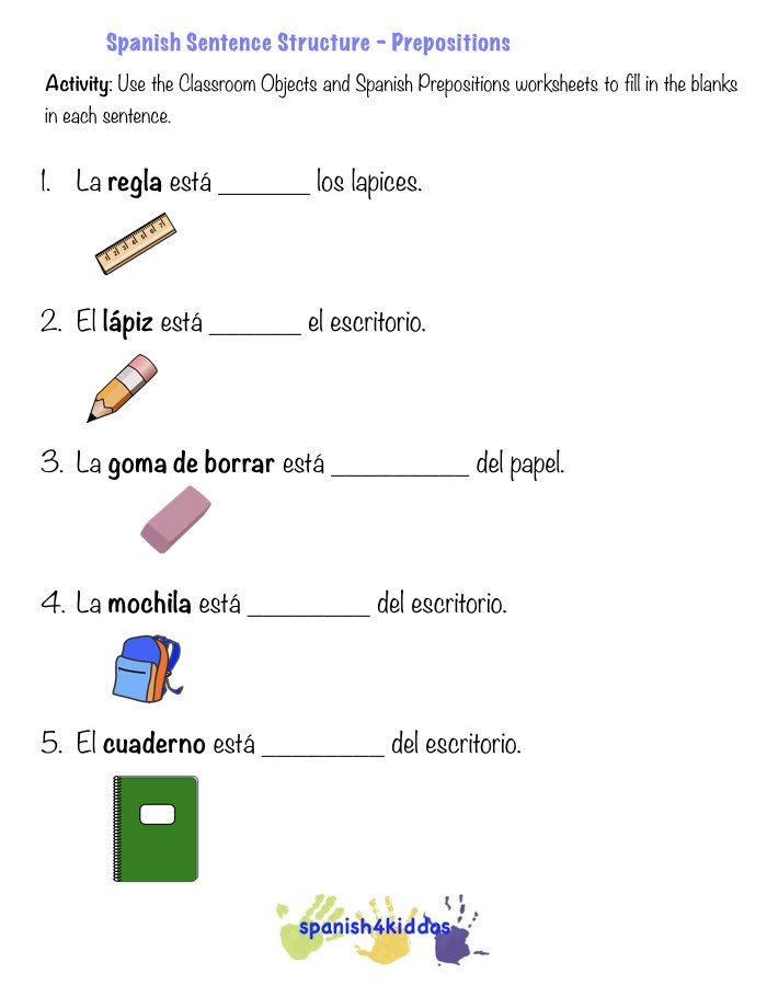Magnificent Any Of These Worksheets Language Spanish4kiddos Tutoring ...