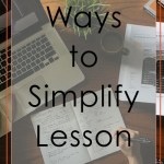 simplify lesson planning