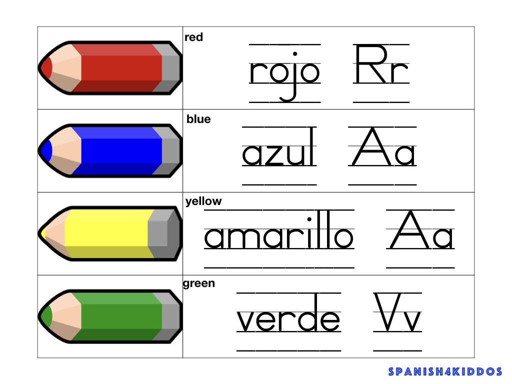 sensory bins color