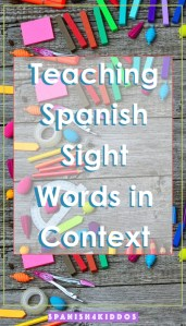 teaching sight words in Spanish