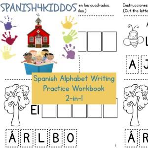 Spanish alphabet writing practice