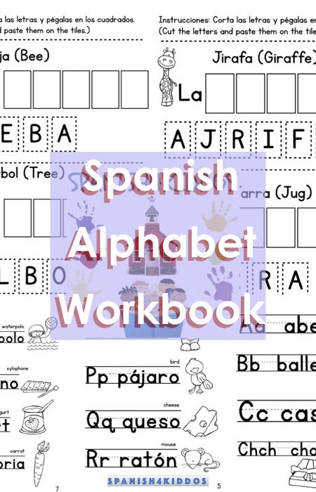 Spanish Writing Practice Workbook