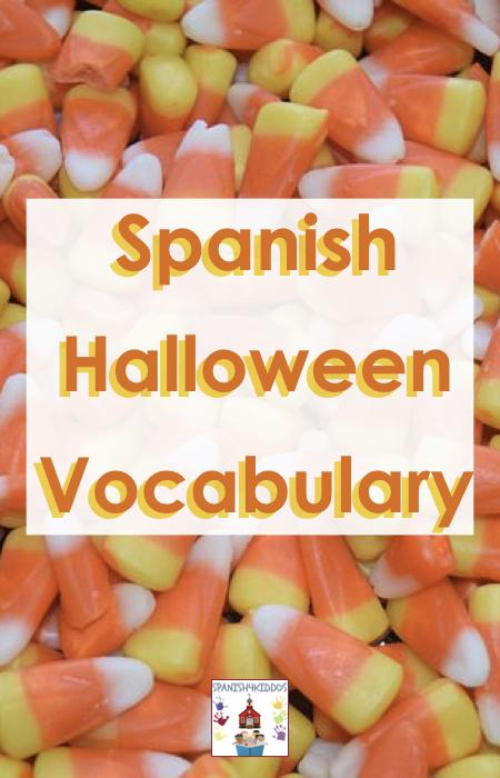 Spanish Halloween vocabulary