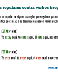 Spanish irregular verbs vs regular also common list and sentences spanishlearninglab rh