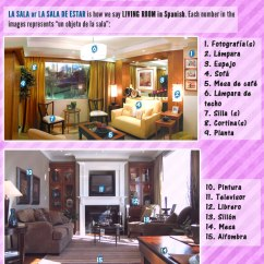 Living Room In Spanish Corner Decoration Ideas For Things The Sentences And Descriptions House Objects A