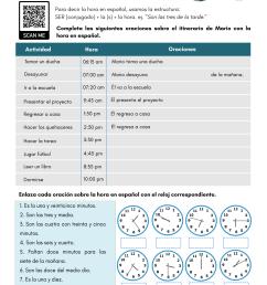 Telling Time in Spanish - PDF Worksheet - SpanishLearningLab [ 1590 x 1229 Pixel ]