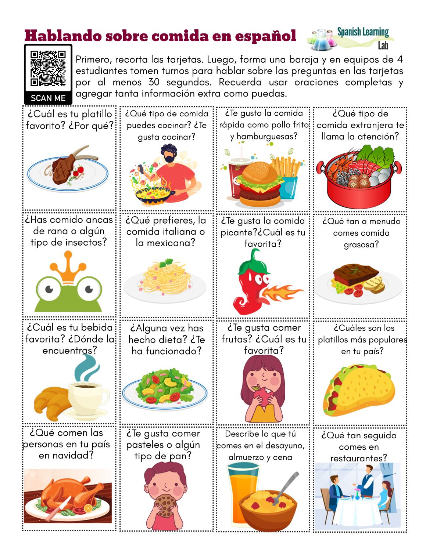 Hablando De La Comida En Espanol
