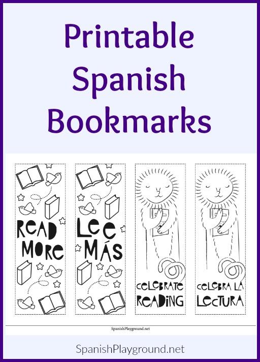 Printable Spanish Bookmarks Spanish Playground