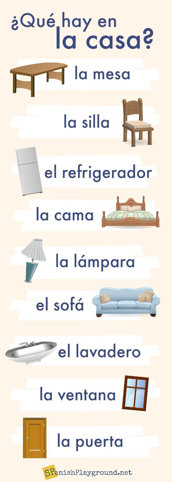hight resolution of Spanish House Vocabulary Activities for Kids - Spanish Playground