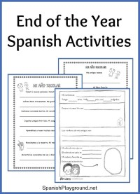 End of the Year Spanish Activities - Spanish Playground
