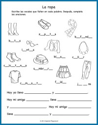 Spanish Clothing Songs for Kids - Spanish Playground