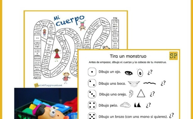 Spanish Body Parts Games For Learning Fun Spanish Playground