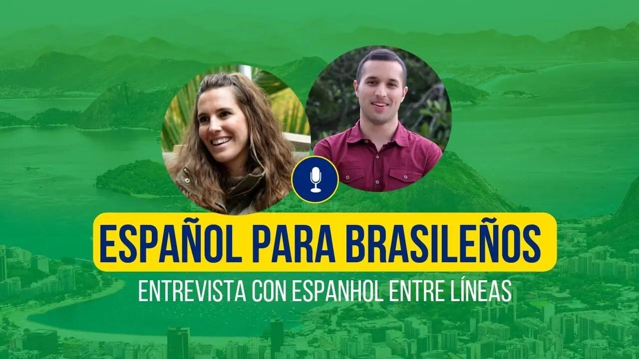 Español para brasileños cover photo con espanhol entre lineas