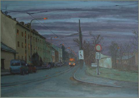 Olomouc  100 x 70 cm  olieverf op doek  2011