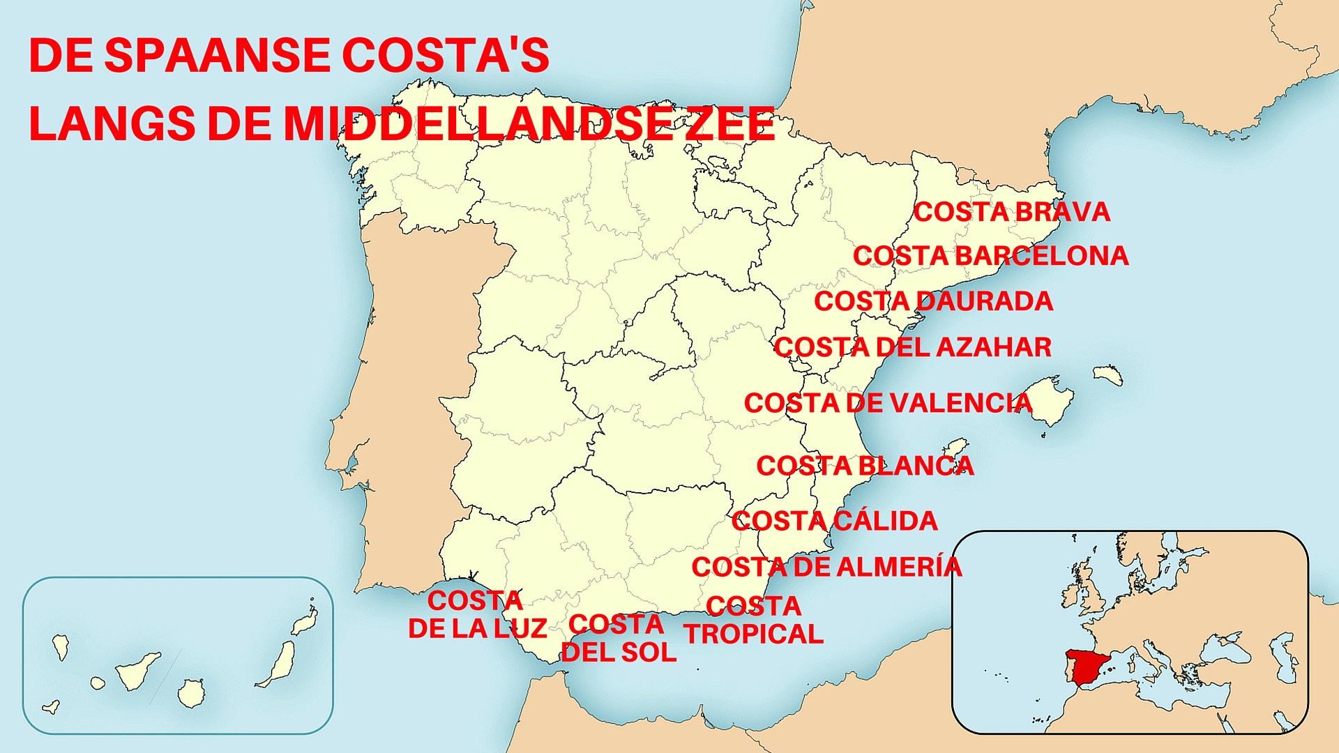 De 10 Spaanse Costa S Aan De Middellandse Zee Spanjetoptien