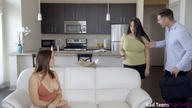 Blair Williams needs a spanking when she's caught sexting by her mom