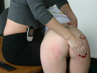 Exam Cheating earns a Hard Ass Spanking for naughty girl