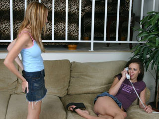 She Spanks her Girlfriend for being a Whore