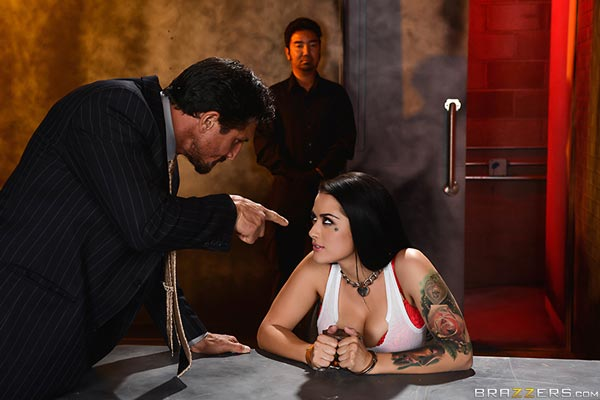 Agent Katrina Jade gets interrogated