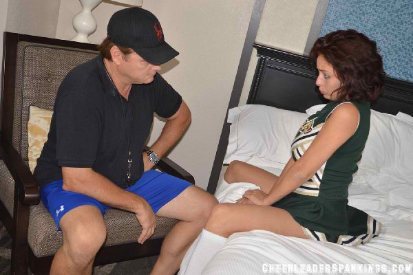 Drunk cheerleader Ashley Graham fails to seduce the coach