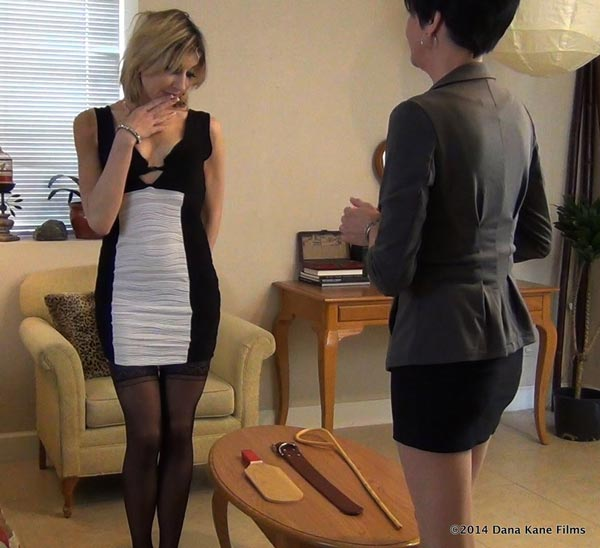 Business woman Agatha looks sheepish in front of Dana Kane