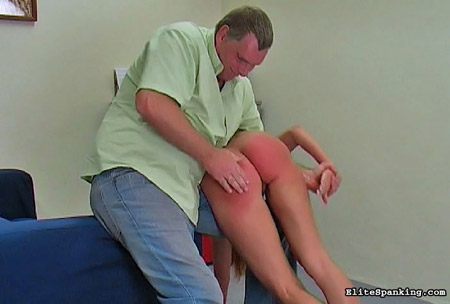 The spanking really heats up when Francesca's panties come off and her bare bottom is spanked hard