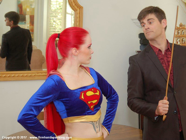 Supergirl gets in some serious trouble at Firm Hand Spanking