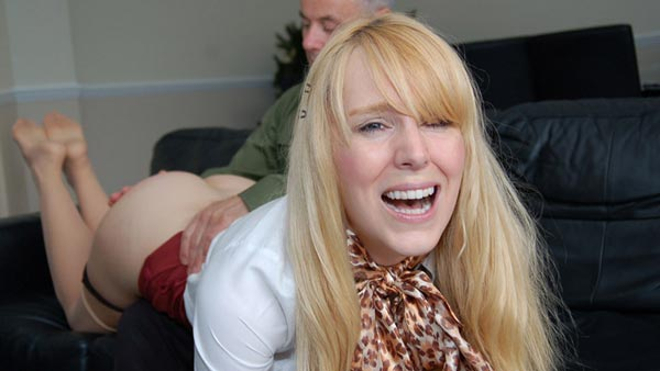 Amelia Jane Rutherford gets a no holds barred spanking in Safehouse